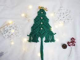 마크라메 크리스마스 트리 만들기